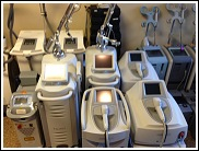 new and used endermologie equipment, cellulite therapy, cellulite equipment, medical and cosmetic lasers, microdermabrasion equipment